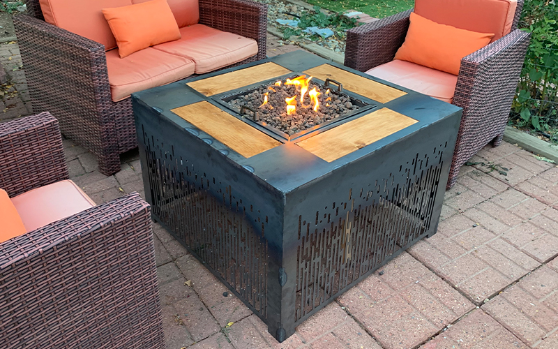 Fire Table Design by Moonshot Design Lab